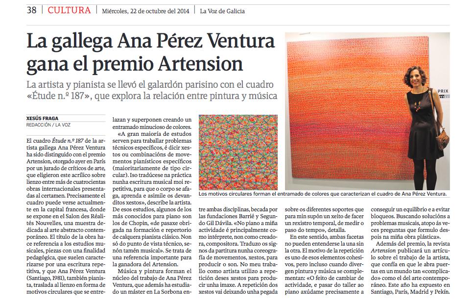 La Voz de Galicia - 22.10.2014